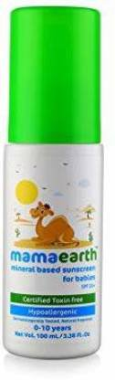MamaEarth Mineral Based Sunscreen for Babies  (100 ml) SKINCARE