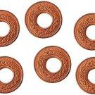 SHRI ANAND Copper Coins With Hole Decorative Showpiece - 2 cm  (Brass, Copper)