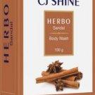 CJ SHINE HERBAL BATH SANDAlL SOAP (PACK OF 4), 100 gram each