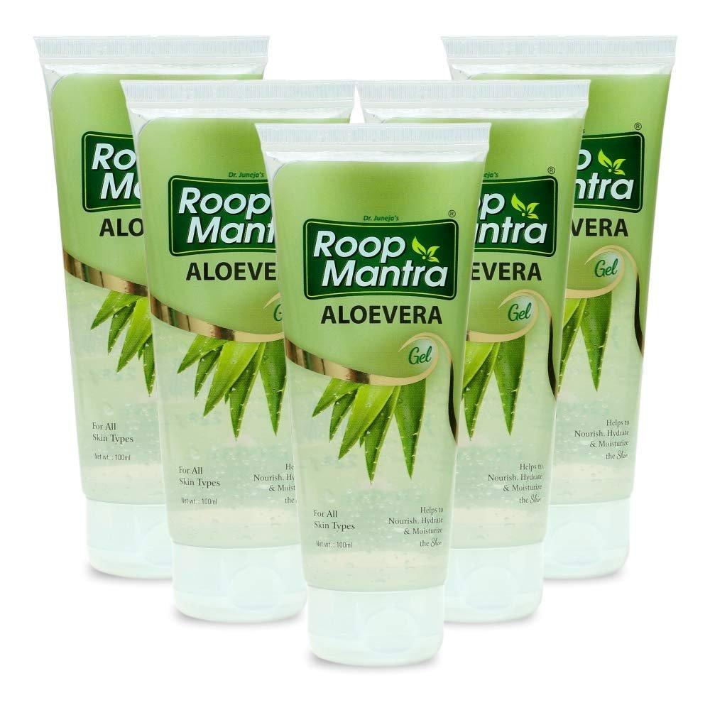 Roop Mantra Aloevera Gel 100ml (Pack of 5, 100ml)