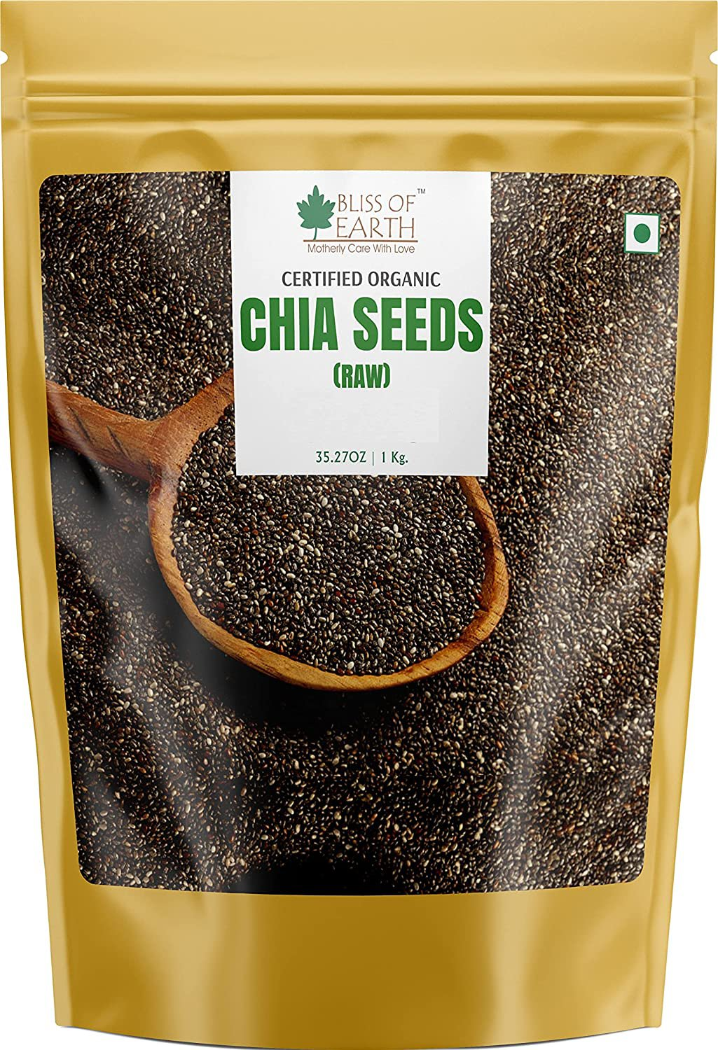Bliss of Earth Organic Raw Chia Seeds For Weight Loss 1kg, Raw Super Food