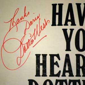 Signed - Dottie West Careless Hands and Have You Heard...Dottie West LP's