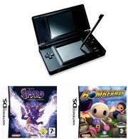 Nintendo DS Lite (Onyx) Bundle with 2 Games