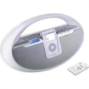 iLive Portable iPod Docking System - White