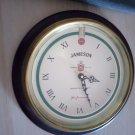 Jameson clock - wood brass glass