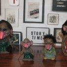 """Vintage HIECO Troll Doll 9"""" BOBBLE HEAD Nodder VOODOO JOE Wurzelsepp Germany"""