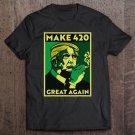 Tadostore Make 420 Great Again Donald Trump Weed Cannabis Stoner Tee Shirt