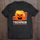 Tadostore Trumpkin Make Halloween Great Again American Flag Pumpkin Trump Tee Shirt