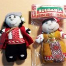 Knitted dolls Handmade Magnet for your collection with folklore motifs 2 set
