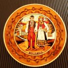 Decorative wooden plate for decorating handmade wood with folklore motifs GIFT