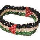 Unisex Palestine Handmade Beaded Flag Bracelet Fashion