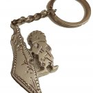 Fancy Silver Palestine Map & Handala character fashion Keychain Keyring