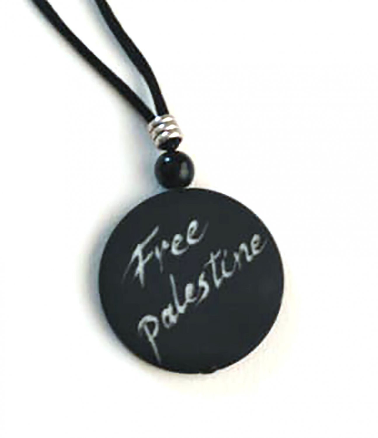Free Palestine Pendant design with Rope Necklace