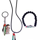 (3 Pieces) Palestine Collection: Necklace, Bracelet & Handala key chain