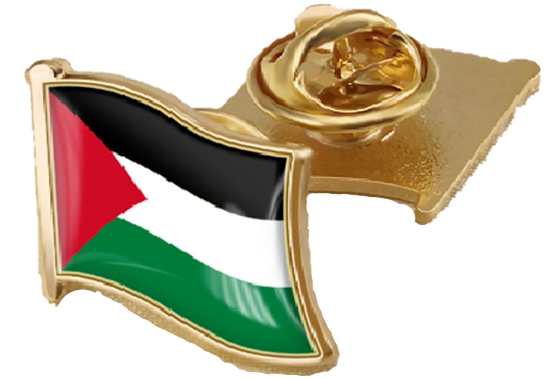 Lot (4 Pcs) Palestine Brooch Fancy Flag design