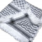 Unisex High Quality Unisex Palestine Black and White Kufiyyeh kofyiah hadab