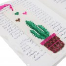 Fashionable handmade embroidered Book Mark tree design