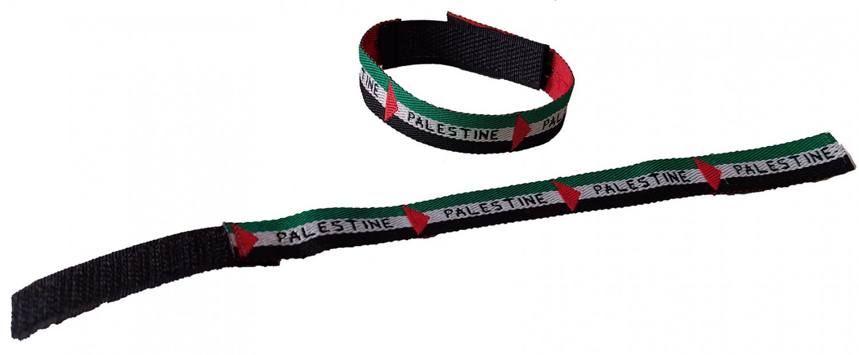 Lot (2 Pcs) Palestine Flag unisex Adjustable Sport Bracelet Fashion Wristband