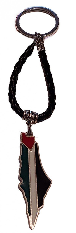Palestine handmade Metal Map & Return Key Keychain Key Holder Ring
