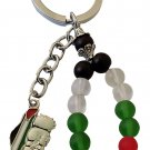 Fancy Palestine colored beads design Flag with Palestine metal Map Handala keychain keyring