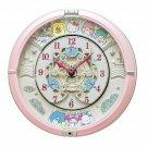 Sanrio characters SEIKO Mechanism Wall Clock Sanrio Japan Kawaii w/Tracking #