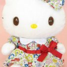 Hello Kitty Plush Stuffed Doll Liberty Ribbon Dress S Sanrio JP Official Track#