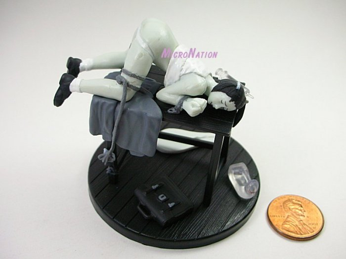 #MT03 Eropon Adult Figure Collection 3 Sexy SM Bondage Miniature Figure Black & White Version