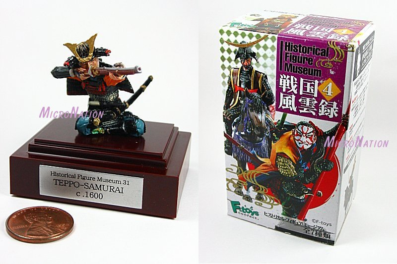 F-toys confect. Historical Figure Museum Part 4 Samurai Figure #31 Teppo-Samurai
