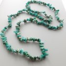 Amazonite gemstone nugget bead necklace .. green crystal stone jewelry