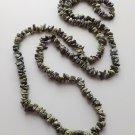 """Serpentine gemstone nugget  chip 32"""" strand.. dark green bead"""