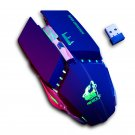 Free Wolf X11 Wireless Gaming Mouse 2400dpi Rechargeable 7 color Breathing Backlight Gamer Mice for