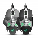 HXSJ J200 Wired Gaming Mouse 6400 DPI Seven-key Macro Programming Settings Mouse with Four Adjustabl