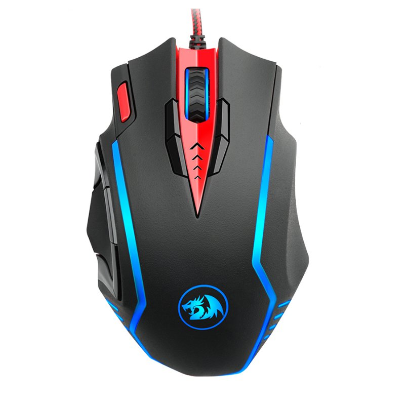 Redragon M902 15 Buttons 16400 DPI USB Wired Optical Mouse 5 Colors Backlight Ergonomic Gaming Mouse
