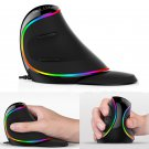 Delux M618 PLUS RGB Light 4000DPI 6 Buttons Vertical Mouse Ergonomic USB Wired Mouse