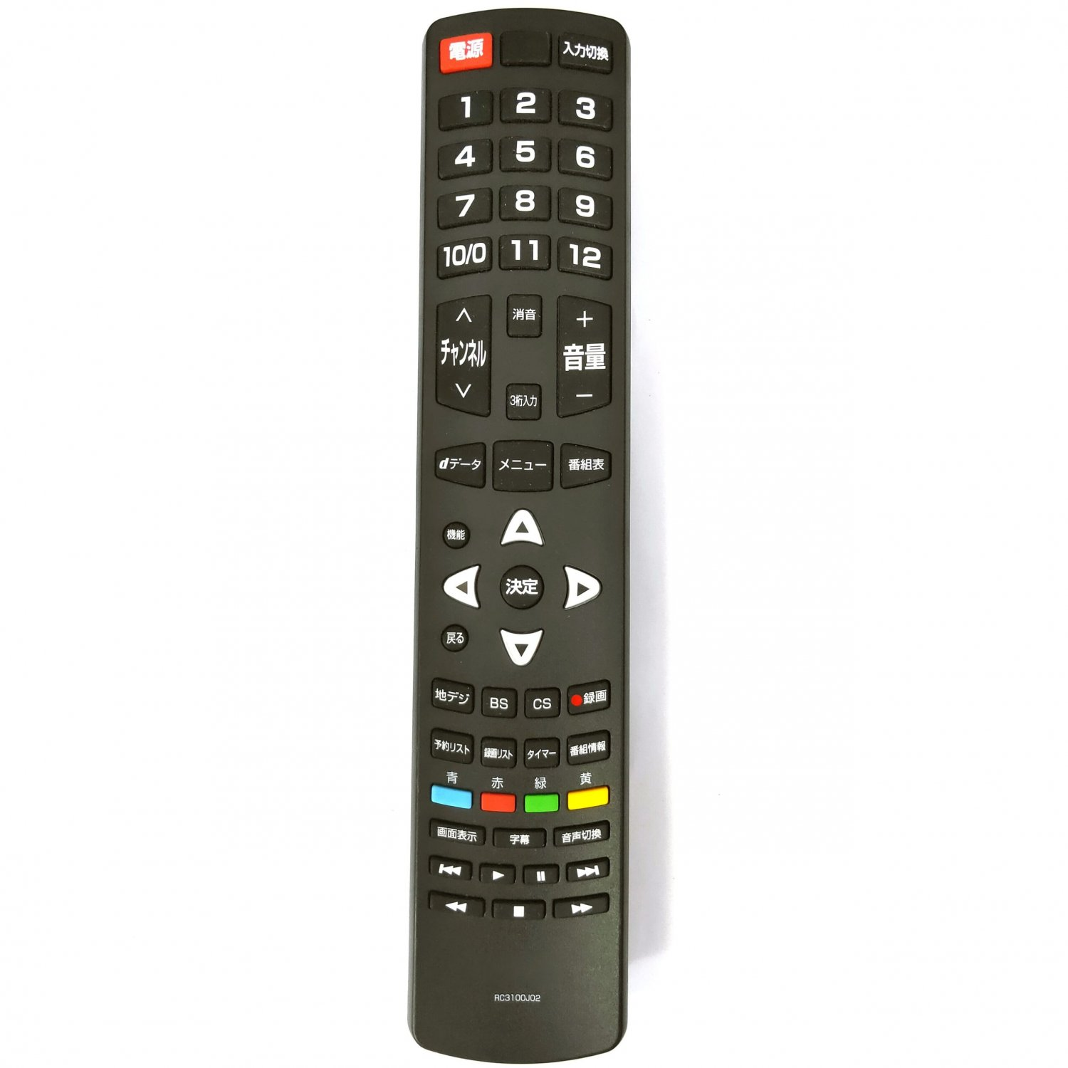 ORIGINAL RC3100J02 Remote Control For TCL TV Japanese