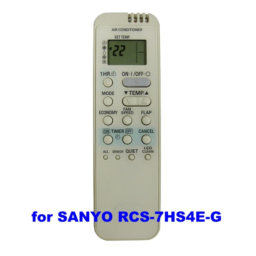 SANYO Air Conditioner Remote Control For RCS-7HS4E-G RCS7HS4EG RCS-5S1E RCS-5S2E RCS-7S2E RCS-7S2E-G