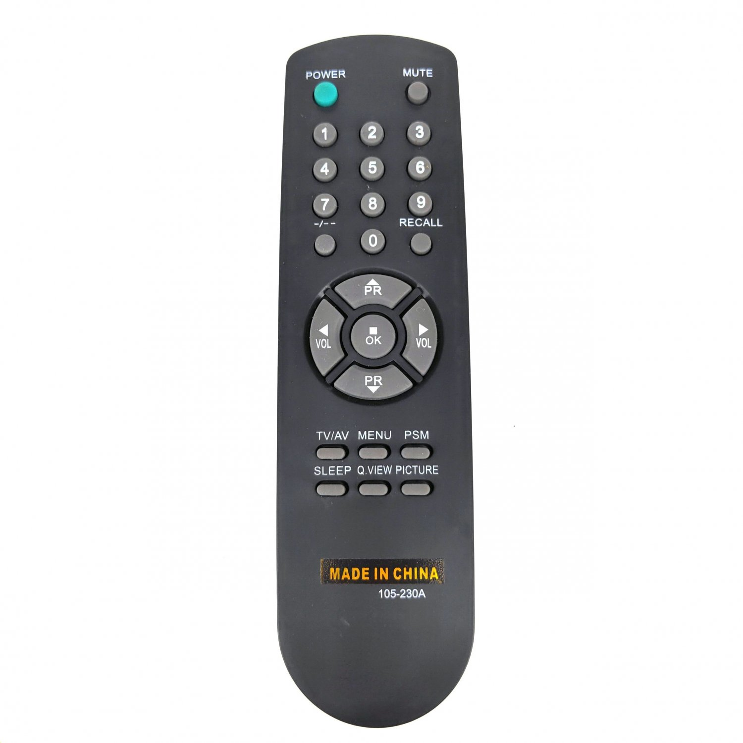 Used 105-230A Replacement Remote Control For Goldstar TV CF-14A40 CF-20D60B CF-14A80 CF-20D70B