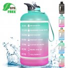 Motivational Water Bottle BPA Free 2.2L/64oz Half Gallon Jug With Straw & Time Maker