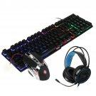 Bakeey Mice Keyboards Headphones Combo 104-Key Backlit Mechanical Waterproof Wired Keyboard G5 800DP