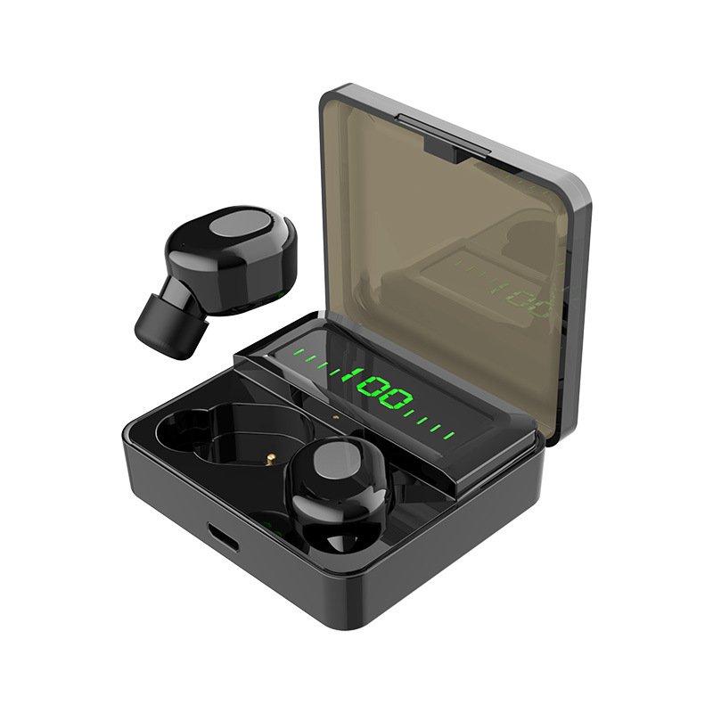 TWS Button Control Wireless bluetooth 5.0 Earphone Hifi Bass Sports Handsfree Headset With Mic 2000m