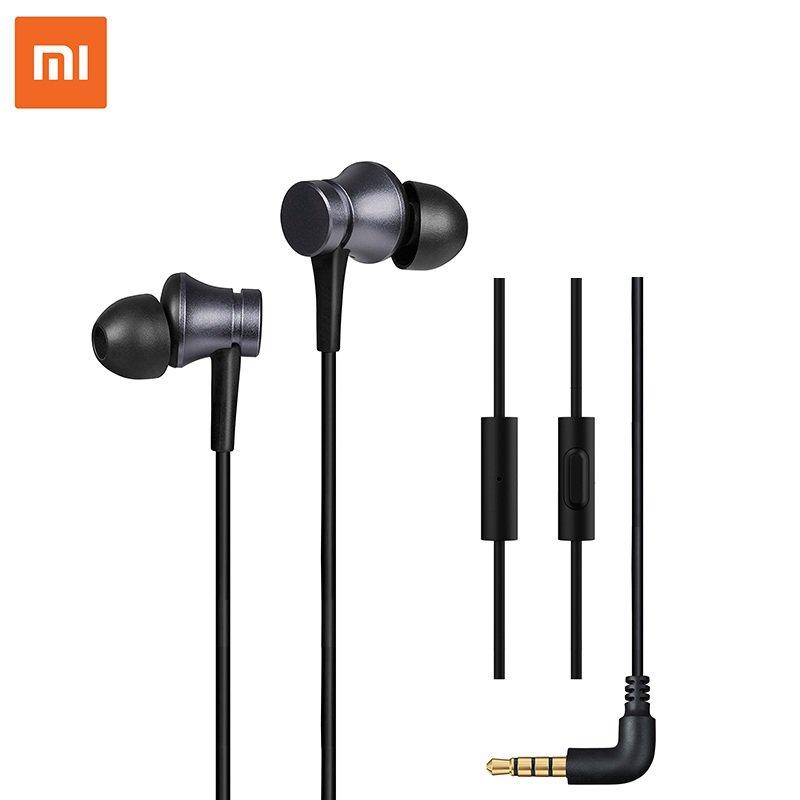 Original Xiaomi Earphone 3.5mm Earbuds Piston In-Ear Wired Control Deep Bass Earphone Headphone with
