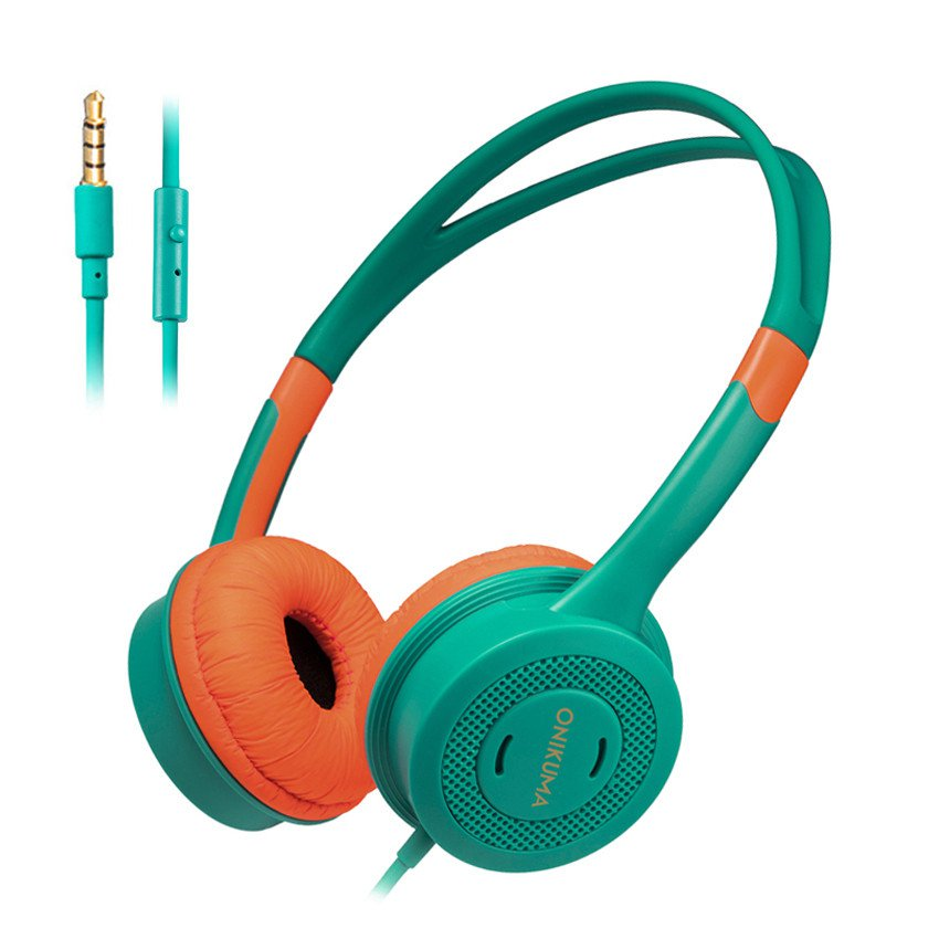 ONIKUMA M100 3.5mm 85dB Limited Volume Hearing Protection Children Wired Over-Ear Headphone Built-in