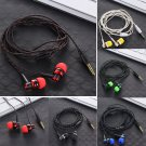 Nylon Weave Cable Earphone Headset High Quality Wired Stereo In-Ear Earphone With Mic For Laptop Sma