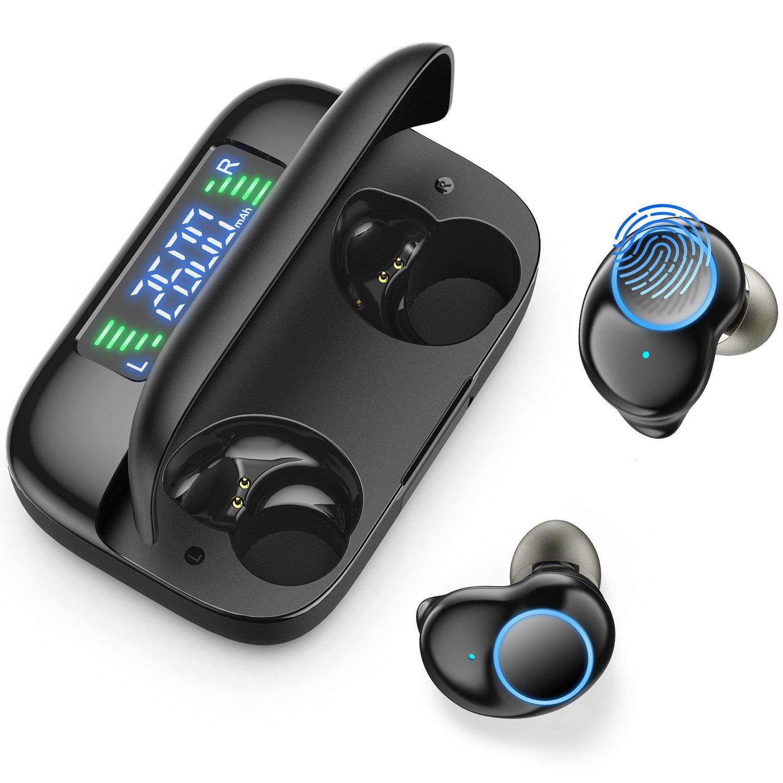 Onikuma T3 Plus bluetooth 5.0 TWS Digital Display Earphone Headphones IPX5 Waterproof Stereo Bass Ea