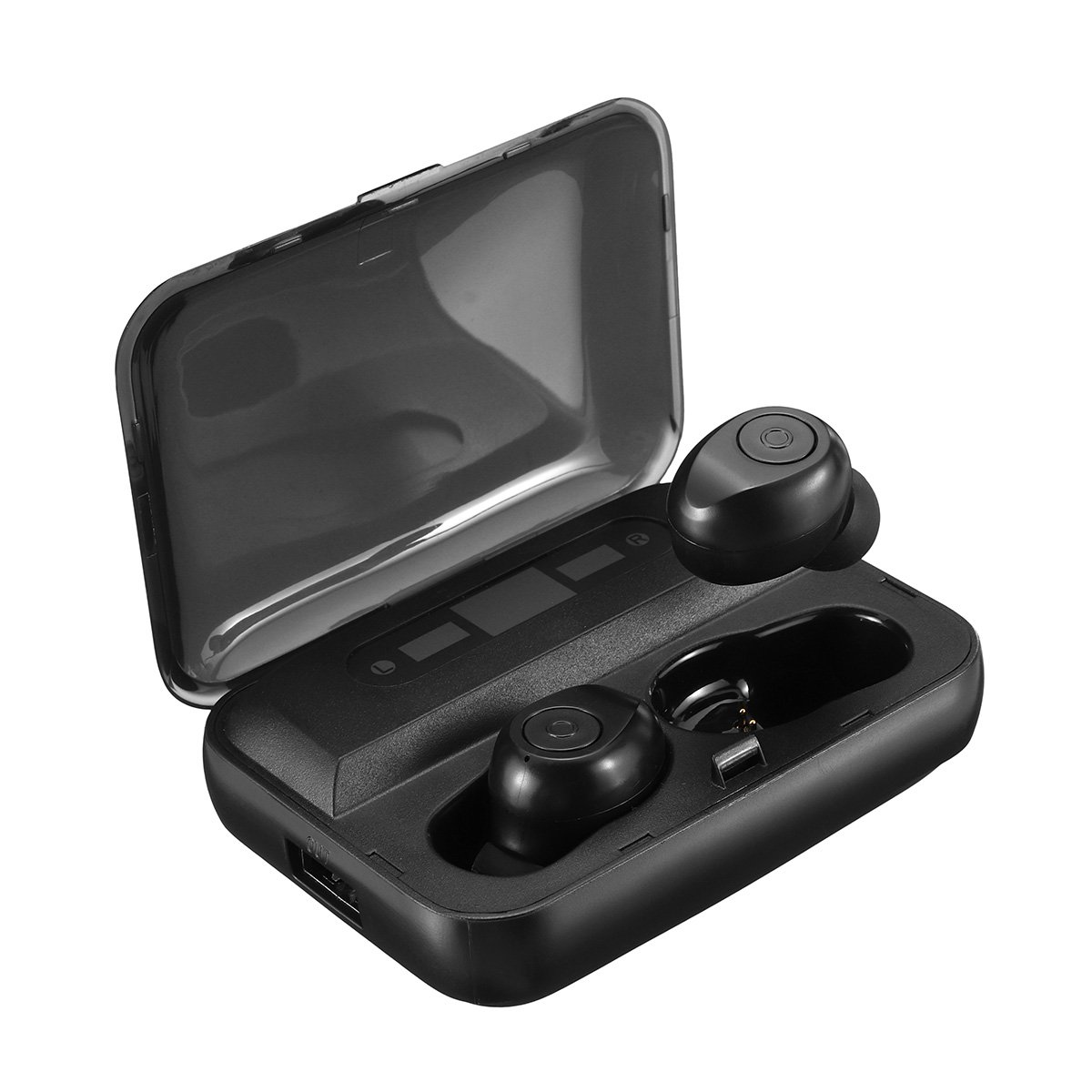 TWS Wireless bluetooth 5.0 Earphone Dual LED Power Display 1300mAh Type-C Charge IPX7 Waterproof Hea