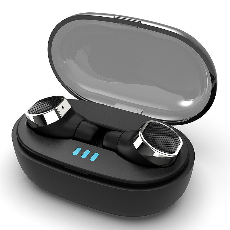 [bluetooth 5.0] TWS True Wireless Earbuds 6D Stereo IPX5 Waterproof Noise Cancelling Binaural Call E