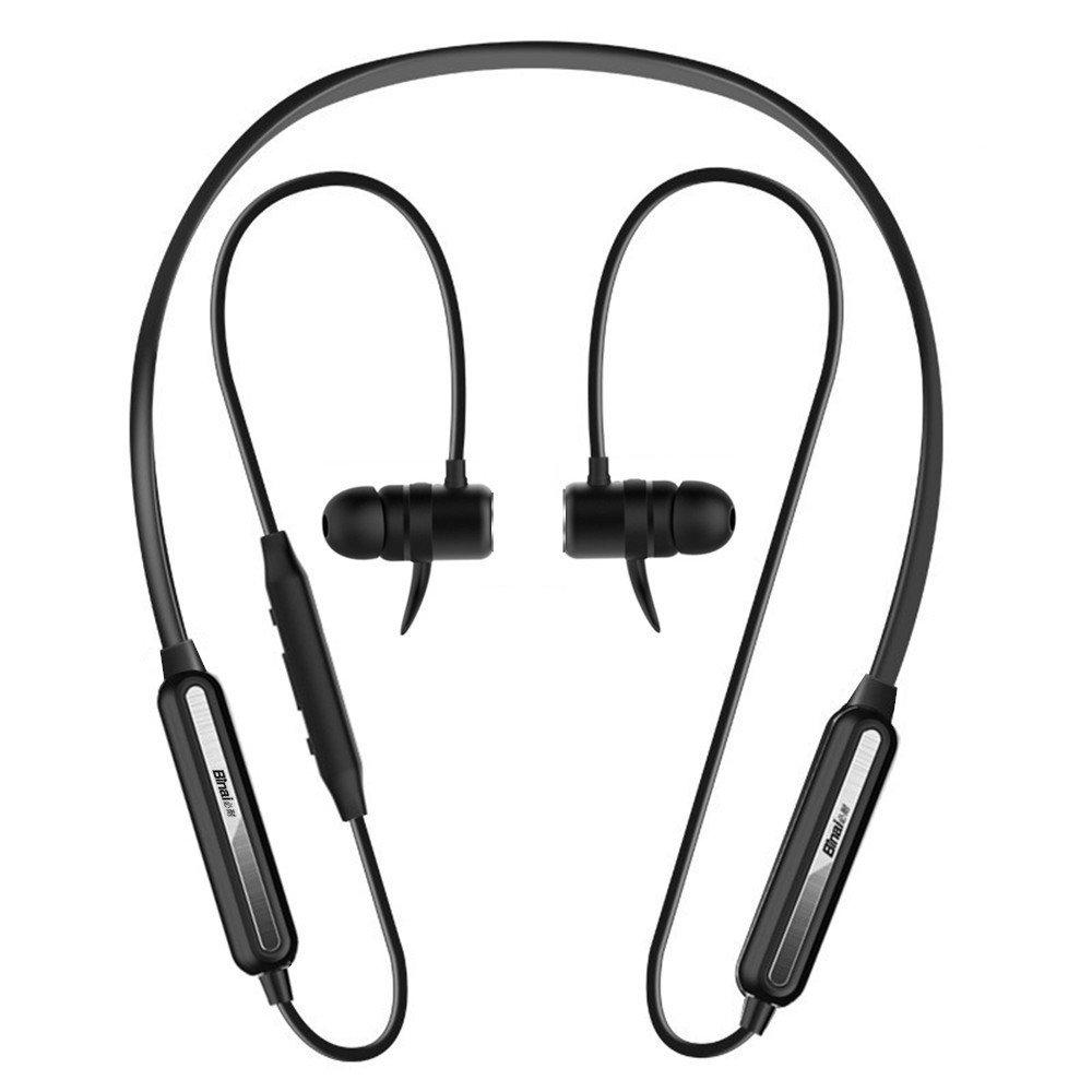 Binai B22 Magnetic Adsorption IPX4 Waterproof Necklace HiFi Bass CSR4.2 bluetooth Earphone With Mic