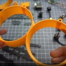 """1 Side (2 Duct) Donut 3 140mm 3 Inch H Type Frame Kit Spare Part PLA Duct"""""""""""