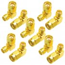 10PCS SMA Female to RP-SMA Male Right Angle Adapter Connector For RC Drone