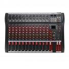 12 Channel bluetooth Live Studio Audio Mixer Mixing Console with USB XLR Input 48V Phantom